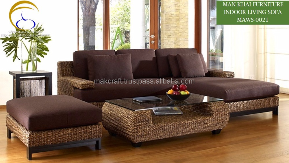 Excellent Home Malaysia Wood Sofa Sets Furniture Rattan Indoor Water Hyacinth L Shape Rattan Living Room Wooden Sofa Set Furniture Buy Water Hyacinth Sofa Download Free Architecture Designs Embacsunscenecom
