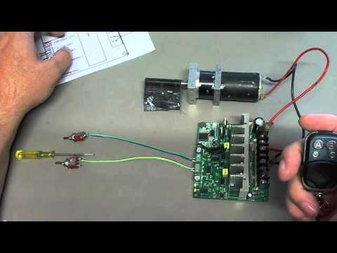 How to setup the wireless controller 12v 24v and 36v DC Motor controller high current!