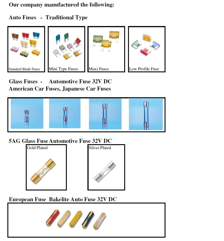 Automotive Partsatc Or Ato Fuses Plug In Fuse Box For Auto Maxi Parts Atc