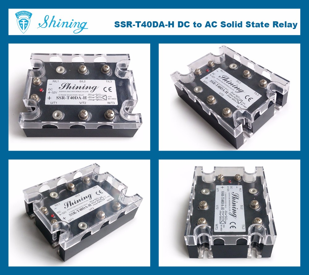 Ssrt40dah Dc To Ac Ssr 40 Amp Three Phase Solid State Relay Buy