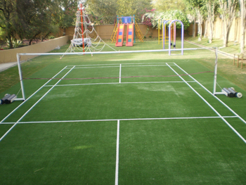 Badminton court artificial grass courts buy badminton for Sport court cost per square foot