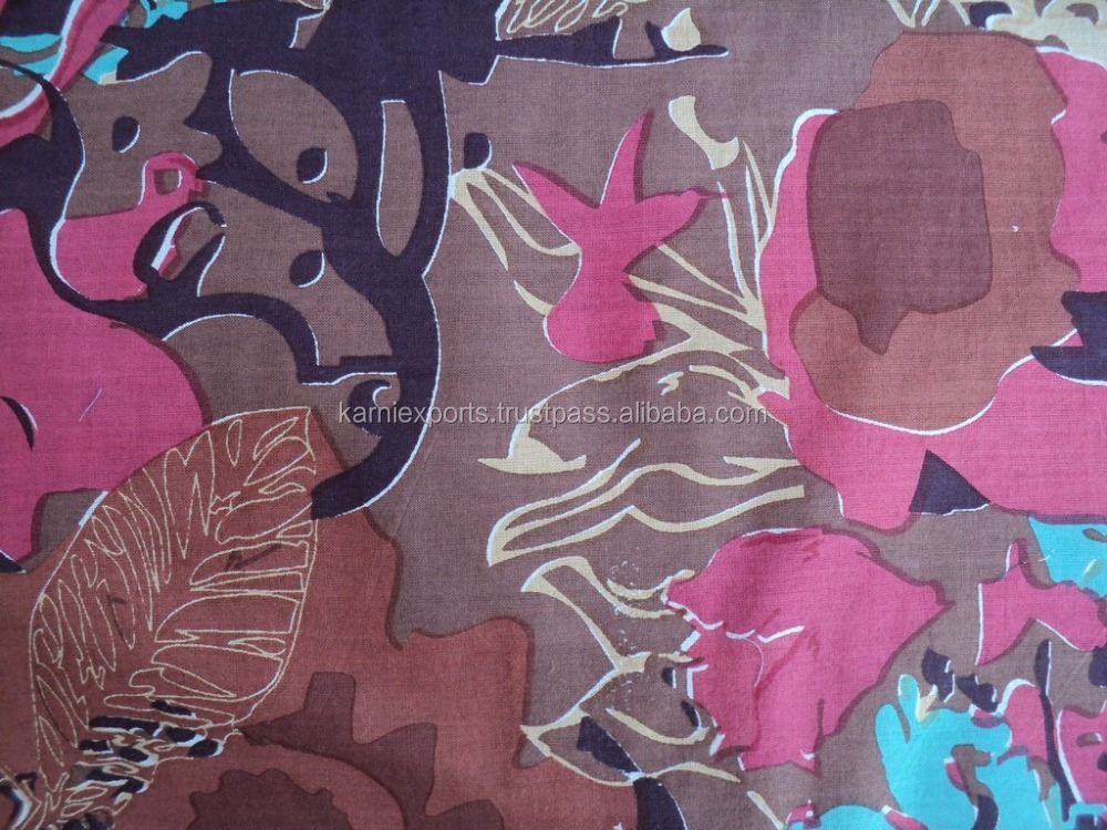 Indonesia cotton printed fabric home textile , ladies garments dress use printed fabric