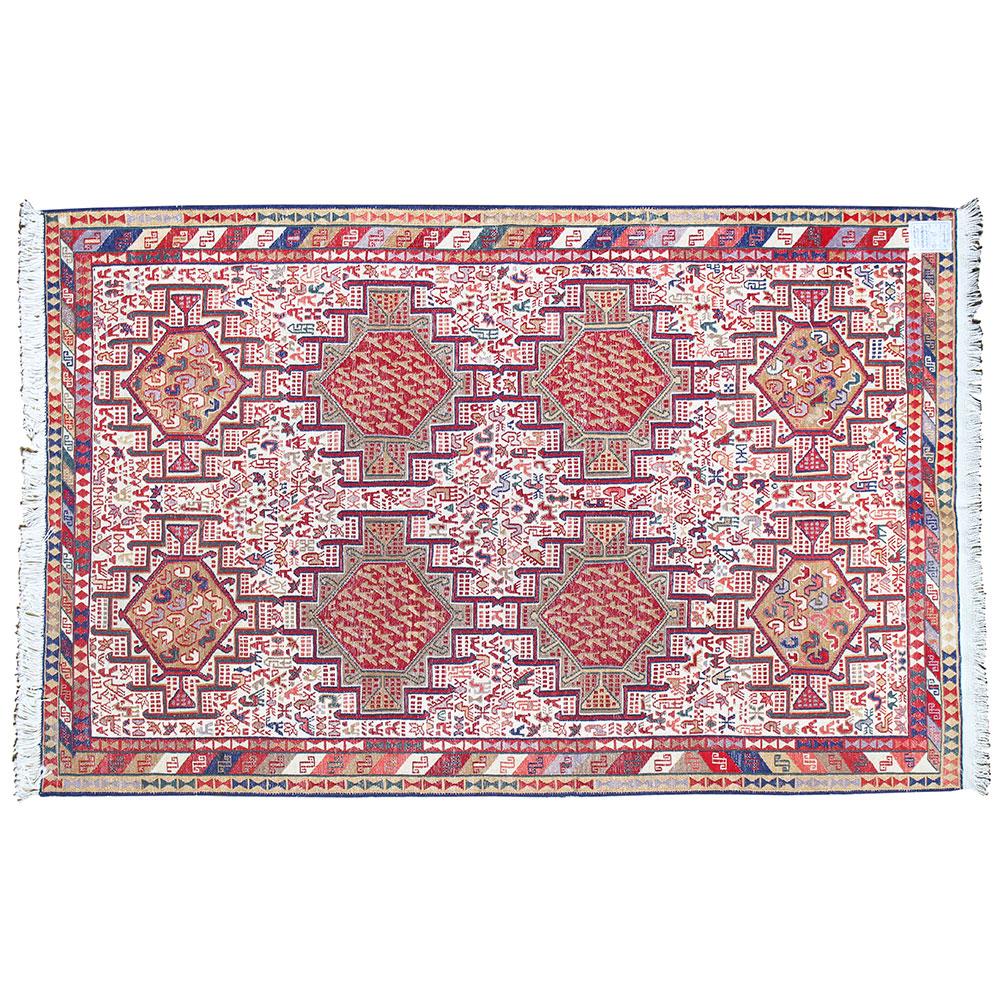 Handmade Silk Kilim Rug Oriental