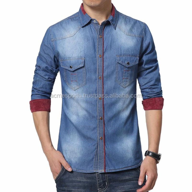 86f117c8959 New Design Denim Shirts - Boys Denim Shirt - Buy Studded Denim Shirt ...