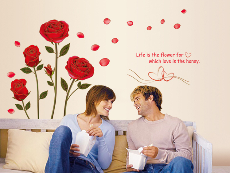 wall sticker wall decals Romantic AY6005