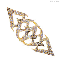 AR-3071 Armor 18k Solid Gold Ring Pave Diamond Ring Jewelry Manufacturer Wholesale Indian Handmade Jewelry