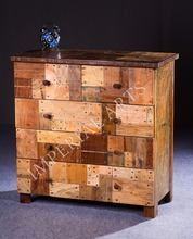 Antique Reclaimed Wood Drawer Chest