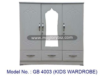 Special Design Kids Wardrobe Small Cabinet White Closet With Mirror, Wooden  Almirah Design, Mirrored