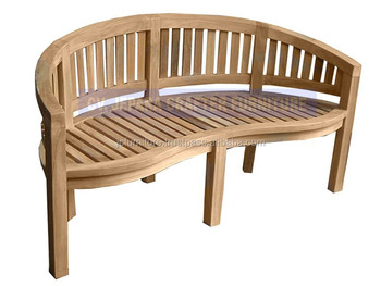 Solid Teak Garden Patio Peanut Benches Outdoor Furniture Indonesia - Solid teak outdoor table