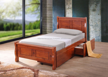 Single Bed Storage Box Bedroom Furniture Home Wooden