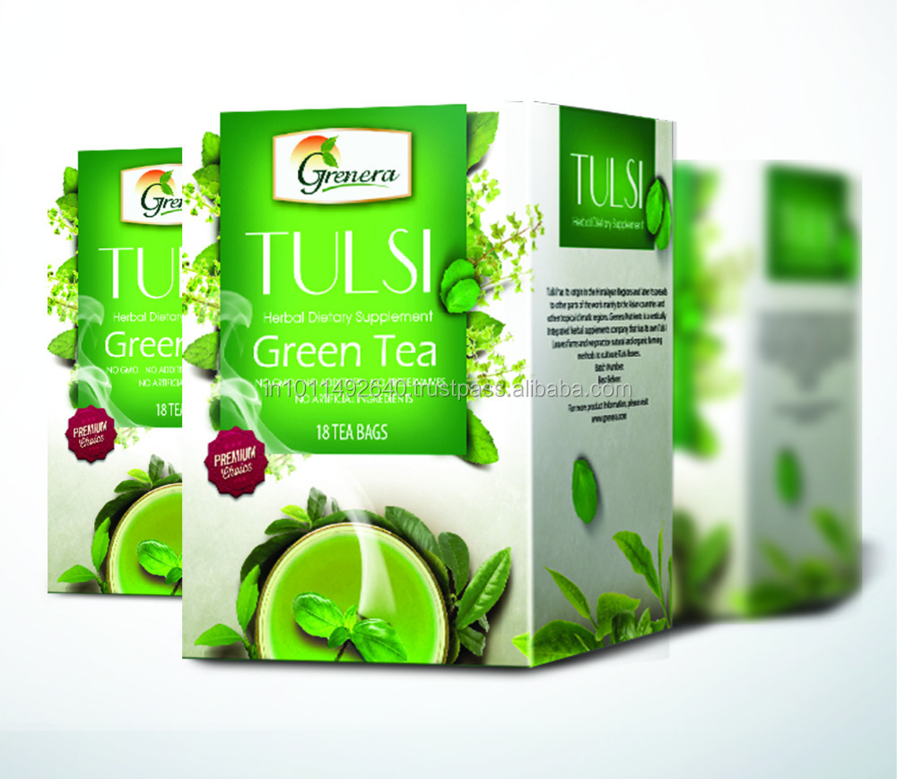 Tulsi Tea With Green Leaves