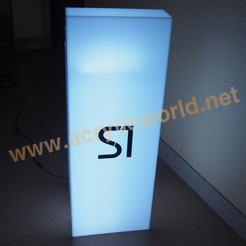 Point Of S Display Stand With Light Acrylic Led Tower Product Box