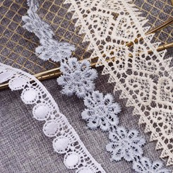 africa embroidery lace cotton guipure Organza Lace