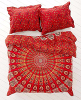 New Urban Outfitters Hippie Mandala Cotton Doona Blanket Duvet Cover Full/Queen