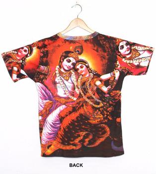 f4e4c71e Hindu God Deity Lord Hare Radha Krishna Vishnu Govinda Gopala TeeTshirt  Shirt Hippie Dj Art T