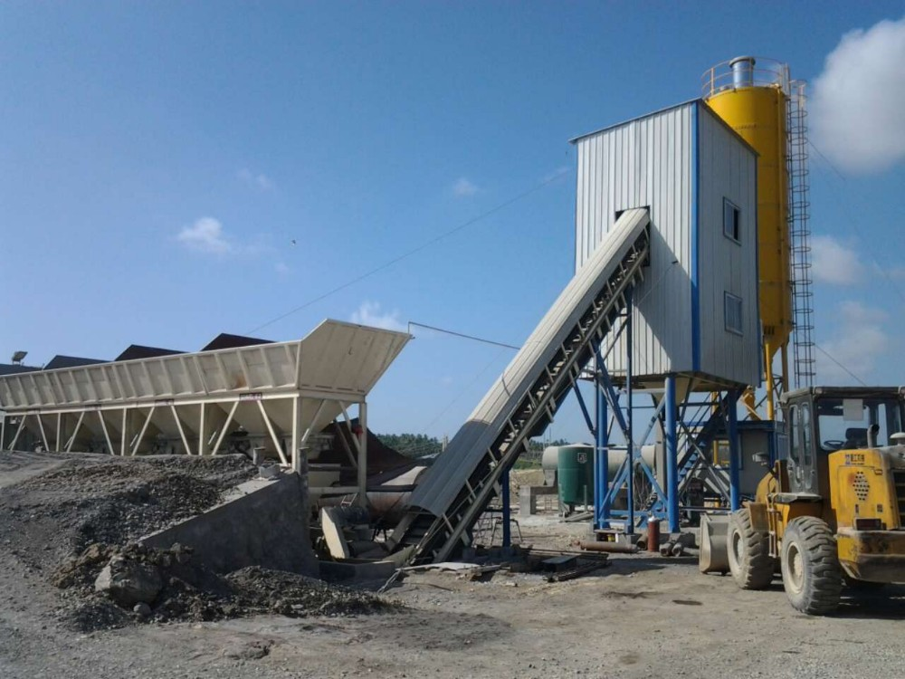Mini Concrete Batch Plant Cube : Hzs ready mixed concrete mixer automatic small