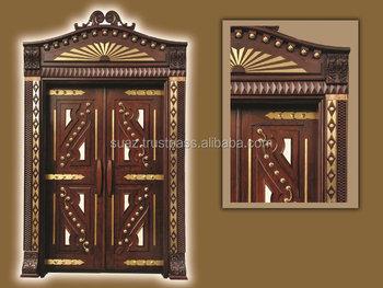 Standard Size Wooden Commercial Entry Door Luxury Double Doors Expensive Wood
