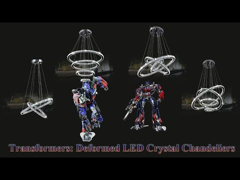 LED crystal chandeliers, Transformers is a crystal chandelier, K9 Crystal LED SMD Light