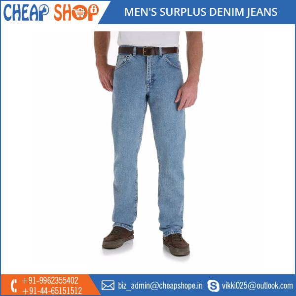 Tested Quality, Factory Supply Men's Surplus Denim Jeans at Low Price