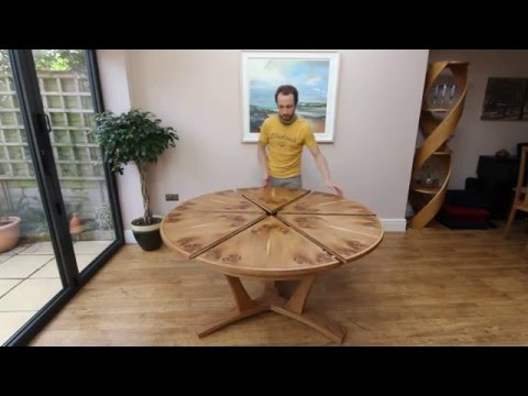Get Quotations · Expanding Circular Dining Table In Pippy Oak