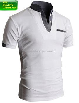 76a53e66999f8 Deportivo blanco combinación gris para niños 100% puro algodón camisa polo  con cuello gris para