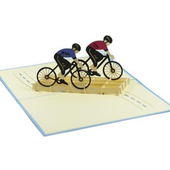 Pop up greeting card for him sport pop up card fs024 cycling pop up greeting card for him sport pop up card fs024 m4hsunfo