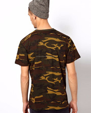 High quality wholesale custom army green wholesale blank camo t shirts