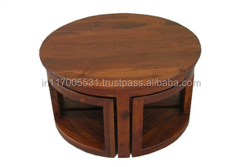 Coffee Table With Stools.Vintage Circular Solid Wood Coffee Center Table With Four Sitting Stools Buy Solid Wood Coffee Table With Glass Top Aviator Coffee Table Imported