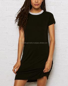 07de3c3b1f9b Black Cheap T-Shirt Dress Women Girl Fashion Design Style Embroider Hot Oem  Customized Print