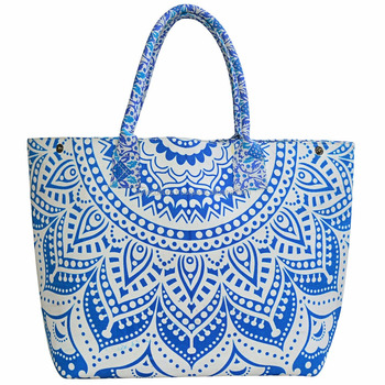 Indian Mandala S Tote Bag Boho Ombre College Shoulder Handmade Cotton Ping Hand Bags