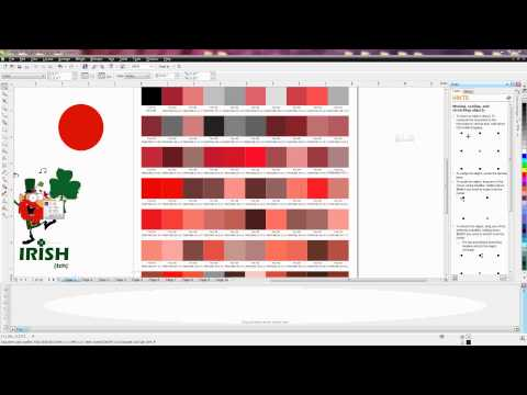 Corel: How to Select a Spot Color Using the Pantone Color Chart