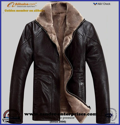 Soft fur leather jackets OEM factory best quality