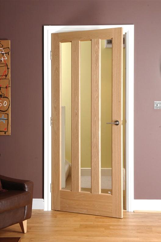 Oak Veneer 3 Lite Interior Glazed Door View Glazed Door Forest
