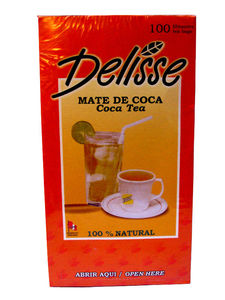 1 Box Coca Mate ~ 100% Natural Delisse Leaf Coca Tea (100 bags)
