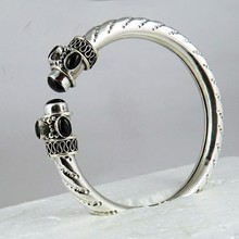 Most Incredible !! Black Onyx Gemstone 925 Sterling Silver Bangle, Silver Jewellery India, Free Shipping Silver Jewelry