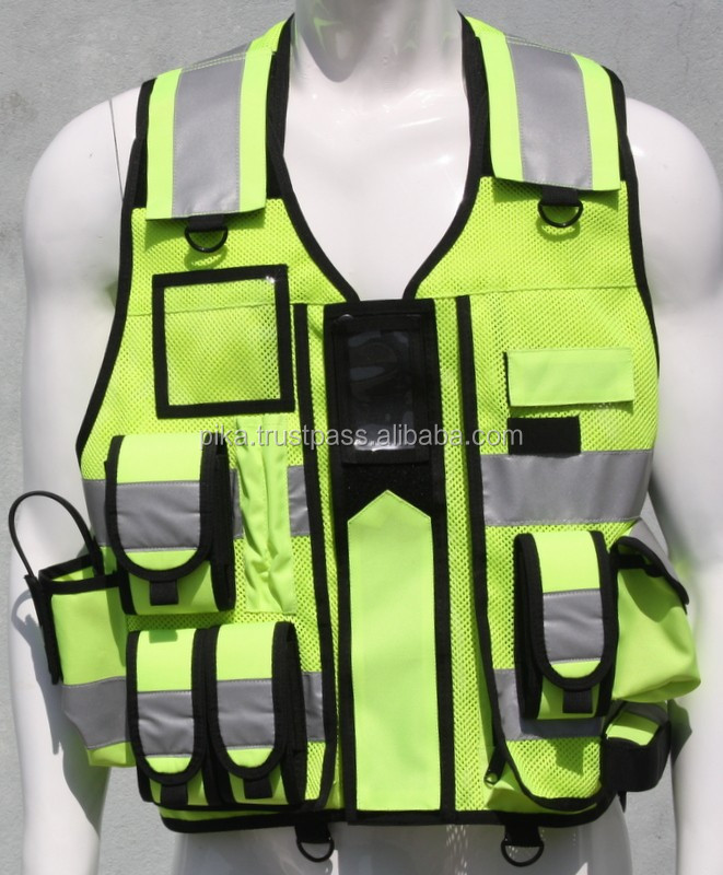 Hi Visibility Reflective Fluorescent Security Vests. search and rescue, SAR vest