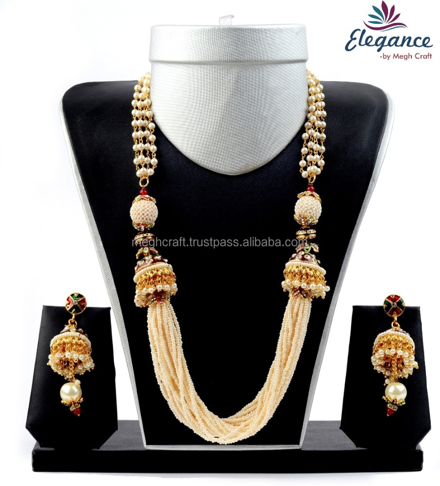 e2aea667a Indian one gram gold plated jewellery - Wholesale pearl jewelry -  Artificial pearl jewelry - Traditional party wear set