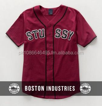 reputable site 12c3b 5baf5 Custom Maroon Baseball Jersey Short Sleeve Custom Embroidery Unisex  Wholesale With Tags And Label At Boston - Buy Unisex Wholesale Baseball ...