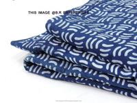 wholesale indian handmade 100% cotton indigo pique fabric
