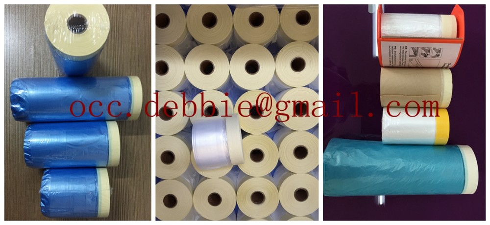 drop cloth for outdoor used malaysia blue tapemasking film