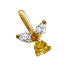 Peer & Marquise Diamant <span class=keywords><strong>Hanger</strong></span> in 18kt Gold-G191