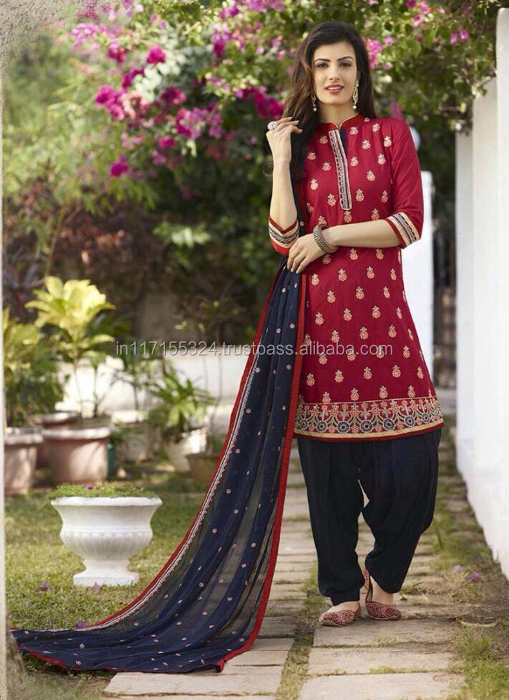 Latest Punjabi Dress Patterns Embroidery Designs Salwar Kameez