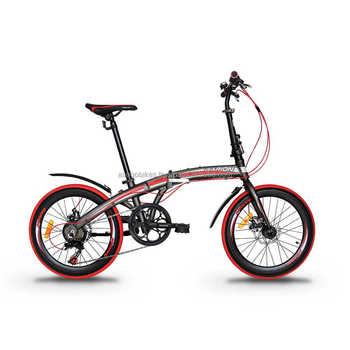 Garion 20 Bici Pieghevole In Lega Bicicletta Pieghevole Con Freni A Disco Opaco Marrone Con Rosso Buy Bicicletta Pieghevolepieghevolebicicletta