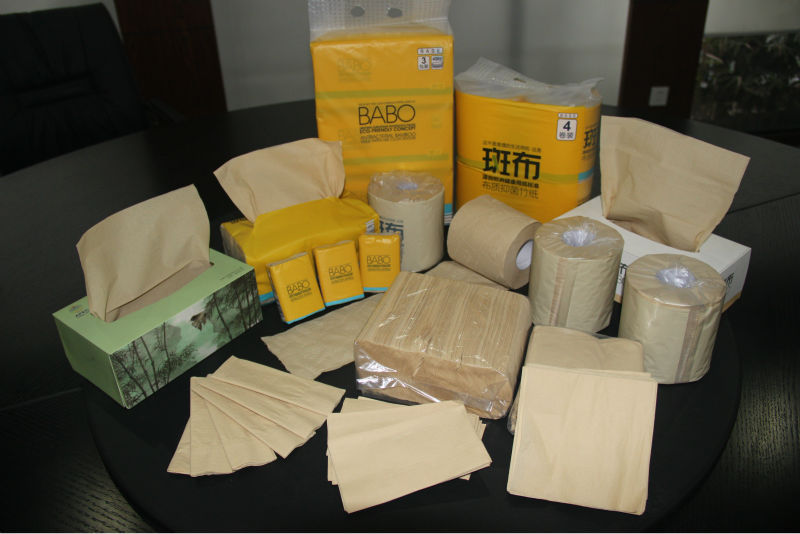 Unbleached Bamboo Tissue Paper Raw Material For Toilet