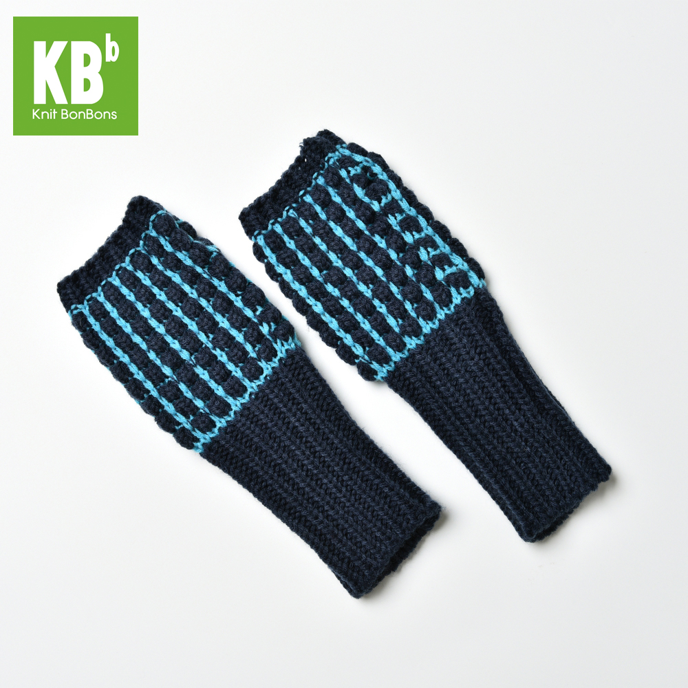 European New Fashion Custom 100% Acrylic Dotted Pattern Fall Winter Warm Unisex Adult Men Women Teen Navy Knitted Arm Warmer