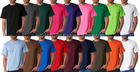 100% coton uni col rond t-shirt disponibles en multi couleur / plaine t-shirt
