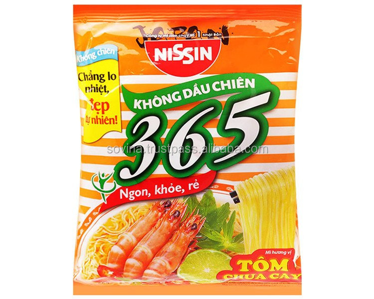Nissin 365 Sour and Spicy Shrimp Noodle 65g Made in Vietnam