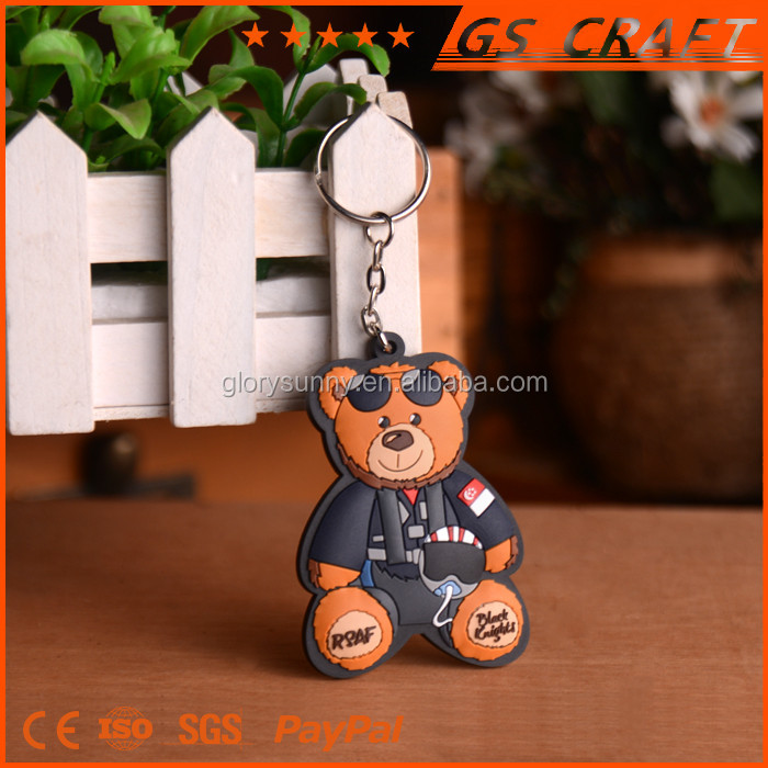 Hohe Leistung Custom 3d Weiche PVC Schlüssel Kette, Großhandel gummi Weiche Silicon Schlüssel Kette