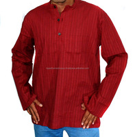 Mens Designer Party Wear Short Cotton Kurta Shirt