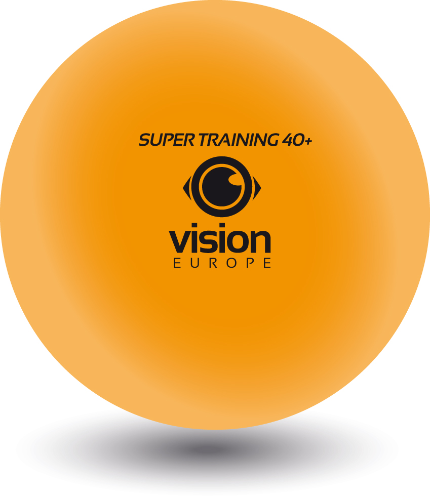 Tennis de table balle vision europe super formation 40 - Balle plastique tennis de table ...